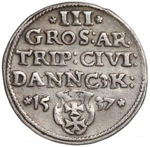 Zygmunt I Stary, Trojak Gdańsk 1537 - wczesny typ