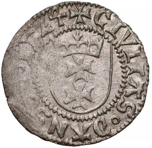 Zygmunt I Stary, Szeląg Gdańsk 1524 - pierwszy - RZADKI
