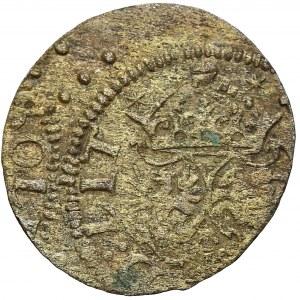 Zygmunt III Waza, Szeląg Wilno 1617 - pełna data / tarcze wygięte (R7)