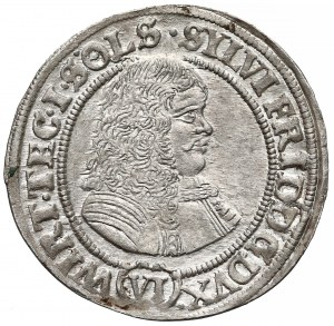 Śląsk, Sylwiusz Fryderyk, 6 krajcarów Oleśnica 1674 - SYLVI