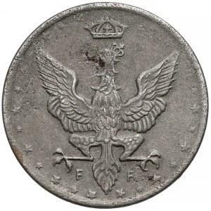 DESTRUKT Królestwo Polskie, 10 fenigów 1918 - skrętka