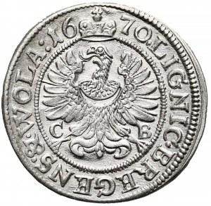 Śląsk, Chrystian Wołowski, 3 krajcary Brzeg 1670 CB