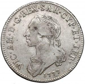Włochy, Sardynia, 1/2 Scudo 1777