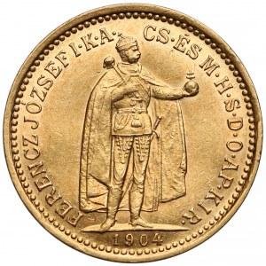 Austro-Węgry, 10 koron 1904 K.B
