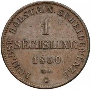 Niemcy, Schleswig - Holstein, Sechsling 1850