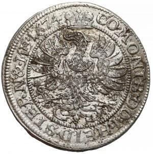 Śląsk, Sylwiusz Fryderyk, 6 krajcarów Oleśnica 1674 SP - SILVI