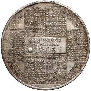 Austria, Franciszek II, Medal kalendarzowy 1805 r.