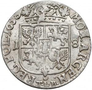Jan II Kazimierz, Ort Kraków 1658 - popiersie 'Gustawa' - RZADKI