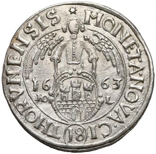 Jan II Kazimierz, Ort Toruń 1663 HDL - PIĘKNY