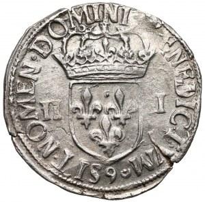 Henryk Walezy, 1/4 ecu Rennes 1587 - bardzo ładny