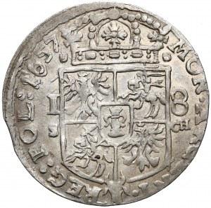 Jan II Kazimierz, Ort Kraków 1657 SCH - bardzo ładny