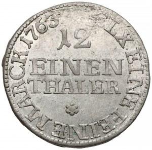 August III Sas, 1/12 talara Drezno 1763 FWóF - piękny