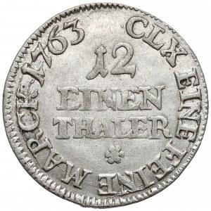 August III Sas, 1/12 talara Lipsk 1763 EDC - prosta
