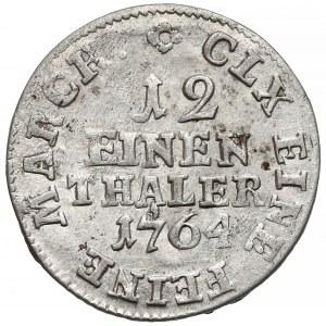 Niemcy, Saksonia, Fryderyk August I, 1/12 talara 1764 IFóF