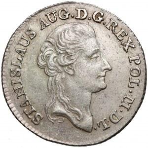 Poniatowski, Złotówka 1788/7 E.B. - ładna