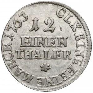 August III SAS, 1/12 talara Lipsk 1763 EDC - wygięta