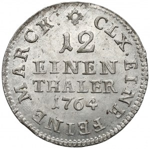 Niemcy, Saksonia, Fryderyk August I, 1/12 talara 1764 EDC