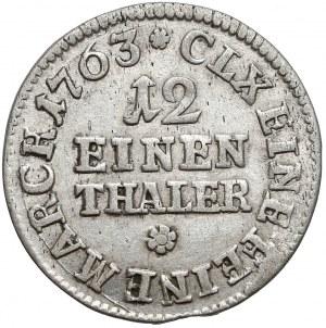 Saksonia, Fryderyk Chrystian, 1/12 talara 1763 IFóF
