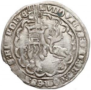 Niderlandy, Flandria, Ludwig II van Male (1346-1384) Podwójny grosz