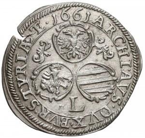 Austria, Leopold I, 3 krajcary 1661-L