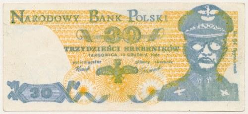 Solidarność, 30 srebrników 1981 Targowica