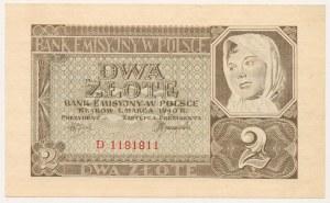 2 złote 1940 - D