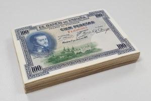 Hiszpania, 100 pesetas 1925 - pakiet (125szt)