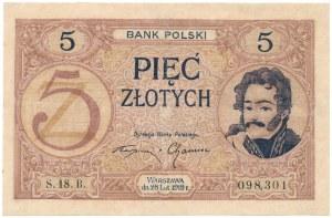 5 złotych 1919 - S. 18 B - po mocnej konserwacji