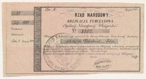 Powstanie Styczniowe, Obligacja tymczasowa 100 złotych 1863