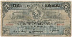 Gwatemala, 5 pesos 1905
