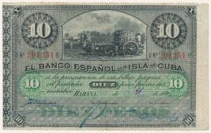 Kuba, 10 pesos 1896