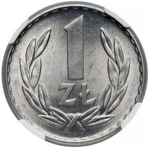 1 złoty 1966 - NGC MS66
