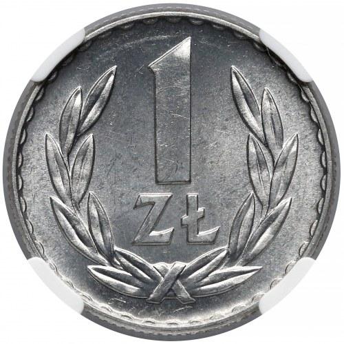 1 złoty 1967 - rzadka - NGC MS66