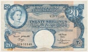 Afryka Wschodnia, 20 shillings (1961)