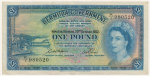 Bermudy, 1 pound 1952