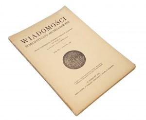 Wiadomości Numizmatyczno-Archeologiczne, Rok 1930