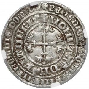 Niderlandy, Flandria, Ludwig II van Male (1346-1384) podwójny grosz - NGC AU53