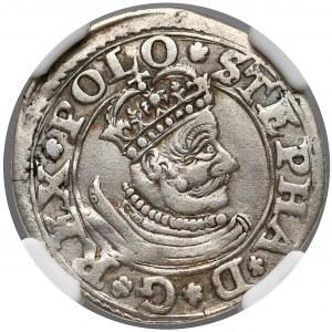 Stefan Batory, Trojak Olkusz 1580 - mała głowa - b. rzadki
