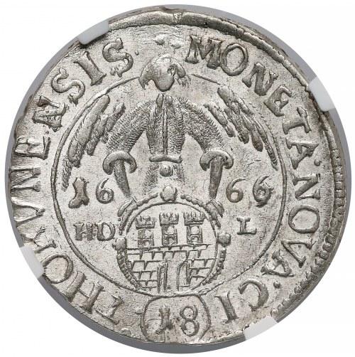 Jan II Kazimierz, Ort Toruń 1666 HDL - RZADKI i PIĘKNY