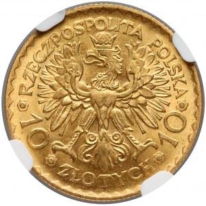 10 złotych 1925 Chrobry - NGC MS64