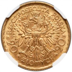 20 złotych 1925 Chrobry - NGC MS64