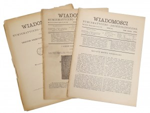 Wiadomości Numizmatyczno-Archeologiczne, Rok 1894 nr 1-2, 3-4 i Spis - KOMPLET