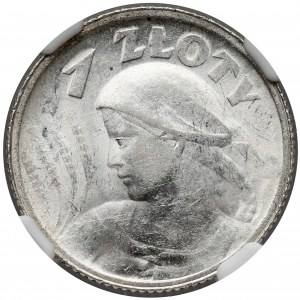 Kobieta i kłosy 1 złoty 1924 - NGC MS60