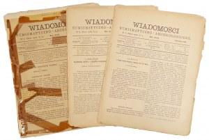 Wiadomości Numizmatyczno-Archeologiczne, Rok 1891 nr 1, 3 i 4 (3szt)