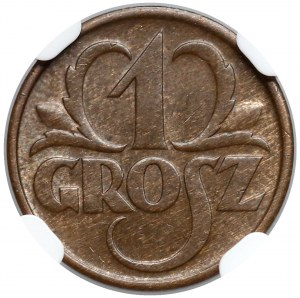 1 grosz 1934 - NGC MS64 BN