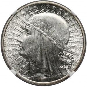 Głowa Kobiety 10 złotych 1932 Londyn - NGC MS62