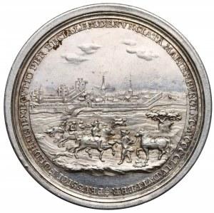 August III Sas, Medal powrót Torunia i Prus do Polski 1754 r.