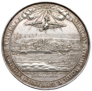 Jan II Kazimierz, Medal przybycie króla do Gdańska 1653 r. (Höhn)