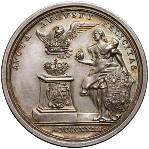 August III Sas, Medal wyboru na króla Polski 1733 r.