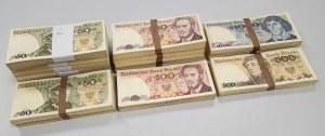 Zestaw banknotów PRL 50-1.000 zł (~1.490szt)